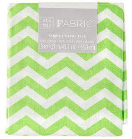 Darice Chevron Quilting Fabric Fat Quarters: Green, 18 X 21 Inches