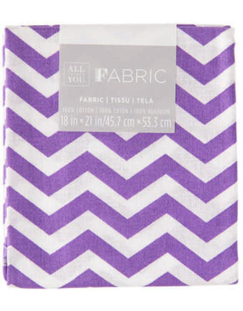 Darice Chevron Quilting Fabric Fat Quarters: Purple, 18 X 21 Inches