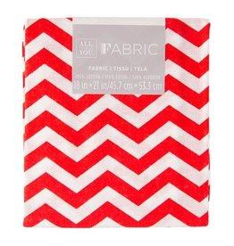 Darice Chevron Quilting Fabric Fat Quarters: Red, 18 X 21 Inches