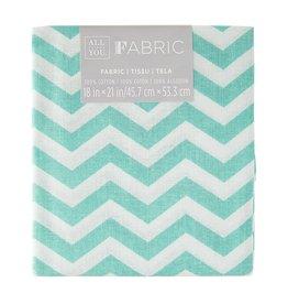 Darice Chevron Quilting Fabric Fat Quarters: Turquoise, 18 X 21 Inches
