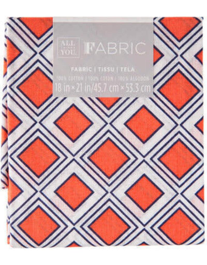 Darice Geometric Quilting Fabric Fat Quarters: Coral, 18 X 21 Inches