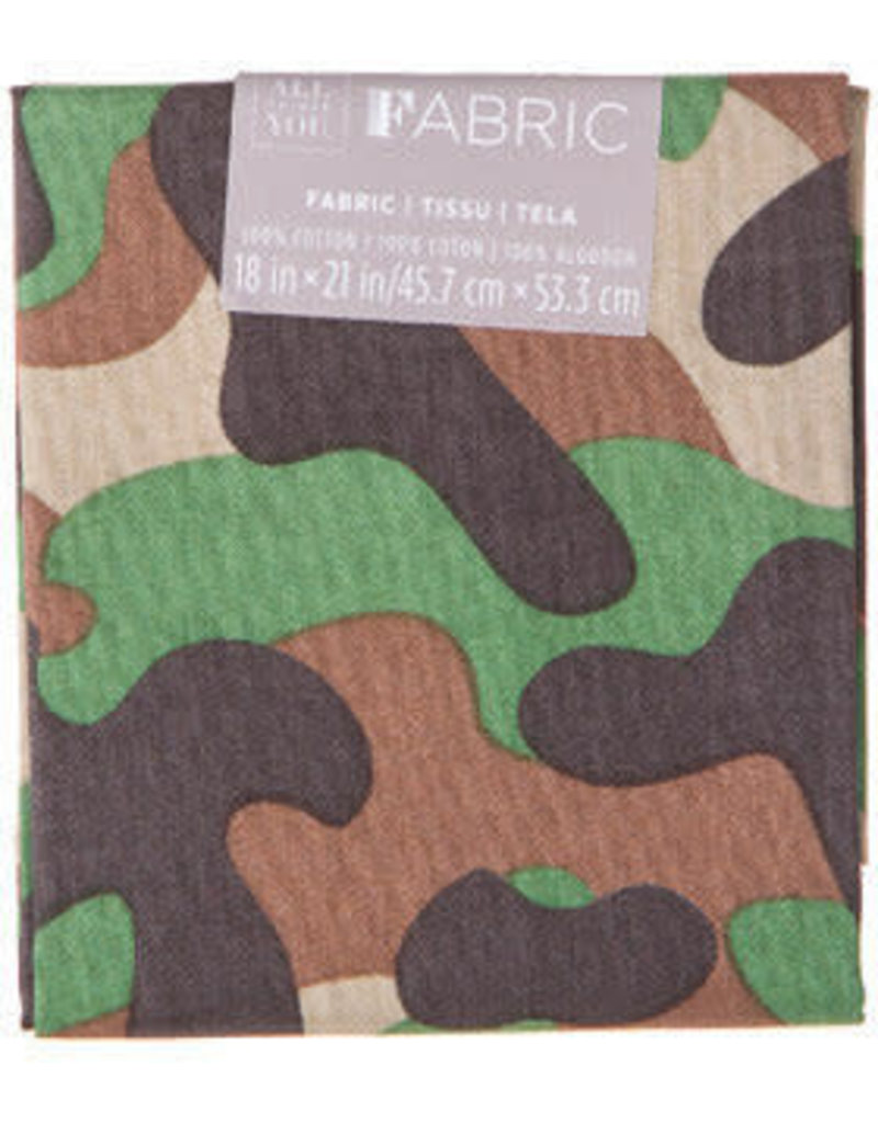 Darice Patterned Quilting Fabric Fat Quarters: Camo Print, 18 X 21 Inches