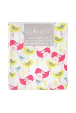 Darice Patterned Quilting Fabric Fat Quarters: Colorful Birds, 18 X 21 Inches