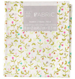 Darice Patterned Quilting Fabric Fat Quarters: Colorful Flowers, 18 X 21 In