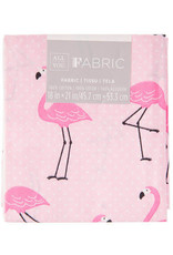 Darice Patterned Quilting Fabric Fat Quarters: Pink Flamingo, 18 X 21 Inches
