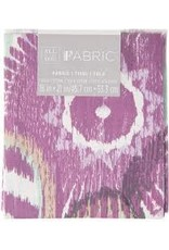Darice Patterned Quilting Fabric Fat Quarters: Purple Floral, 18 X 21 Inches