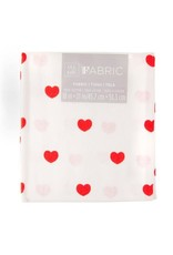 Darice Patterned Quilting Fabric Fat Quarters: Red Hearts, 18 X 21 Inches