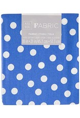 Darice Polka Dot Quilting Fabric Fat Quarters: Blue, 18 X 21 Inches