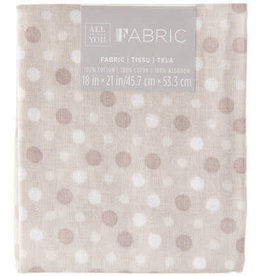 Darice Polka Dot Quilting Fabric Fat Quarters: Gray, 18 X 21 Inches