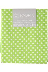 Darice Polka Dot Quilting Fabric Fat Quarters: Green, 18 X 21 Inches