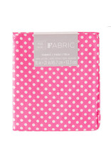 Darice Polka Dot Quilting Fabric Fat Quarters: Pink, 18 X 21 Inches