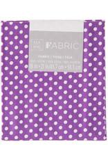 Darice Polka Dot Quilting Fabric Fat Quarters: Purple, 18 X 21 Inches