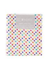 Darice Polka Dot Quilting Fabric Fat Quarters: Rainbow, 18 X 21 Inches