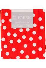 Darice Polka Dot Quilting Fabric Fat Quarters: Red, 18 X 21 Inches
