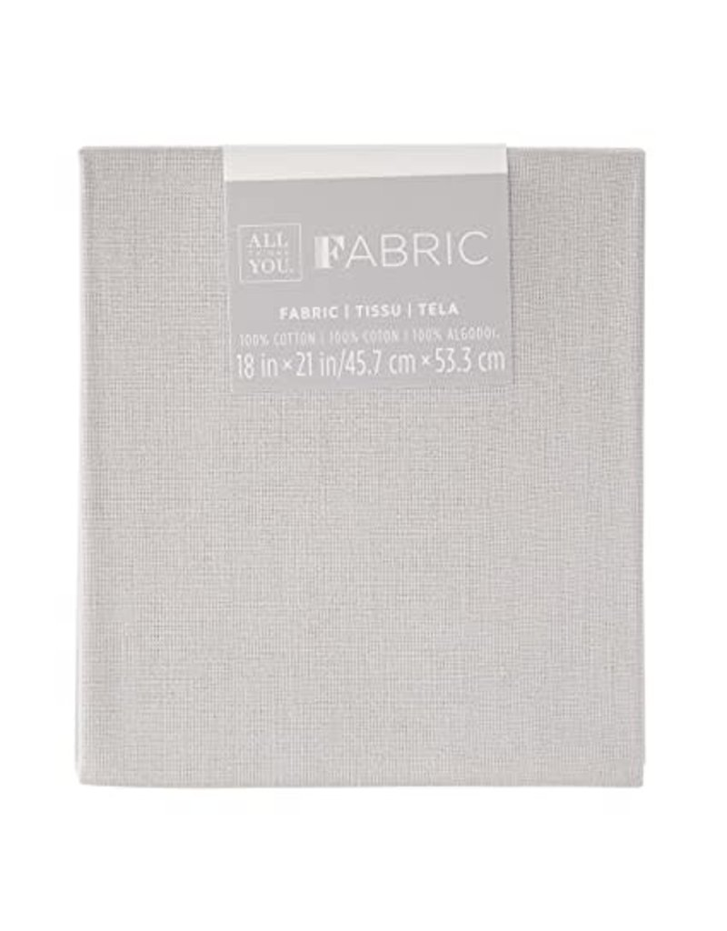 Darice Solid Quilting Fabric Fat Quarters: Gray, 18 X 21 Inches