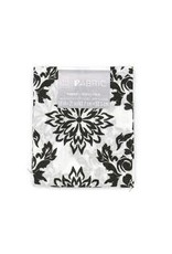 Darice Patterned Quilting Fabric Fat Quarter: Black & White Floral, 18 X 21 In