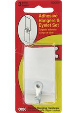 Ook Adhesive Hangers & Eyelets 6Pk Cd