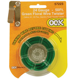 Ook Green Floral Wire 50Ft Cd