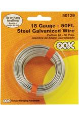 Ook Picture Hanging Wire, Steel Galvanized Wire - 18 Gauge, 50 Ft.