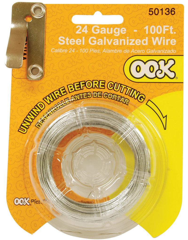 Ook Steel Wire 24 Ga 100 Ft Cd