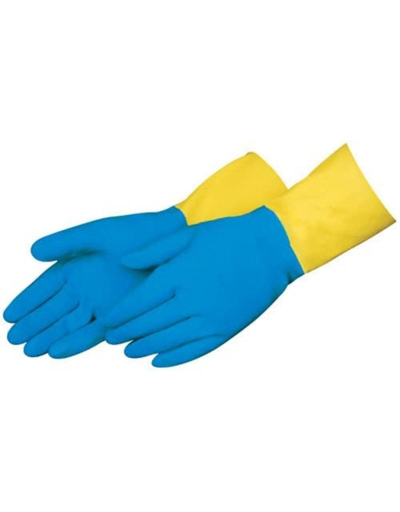 "NS Preforma 28 mil 13"" Neoprene Over Natural Latex Chemical Resistant Gloves - Small"