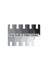 Color Wheel Co Gray Scale and Value Finder, Ten swatches