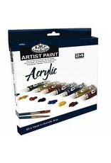 Royal Brush Royal Brush Acrylic Artist Paint Sets, 24 Color Set 12ml