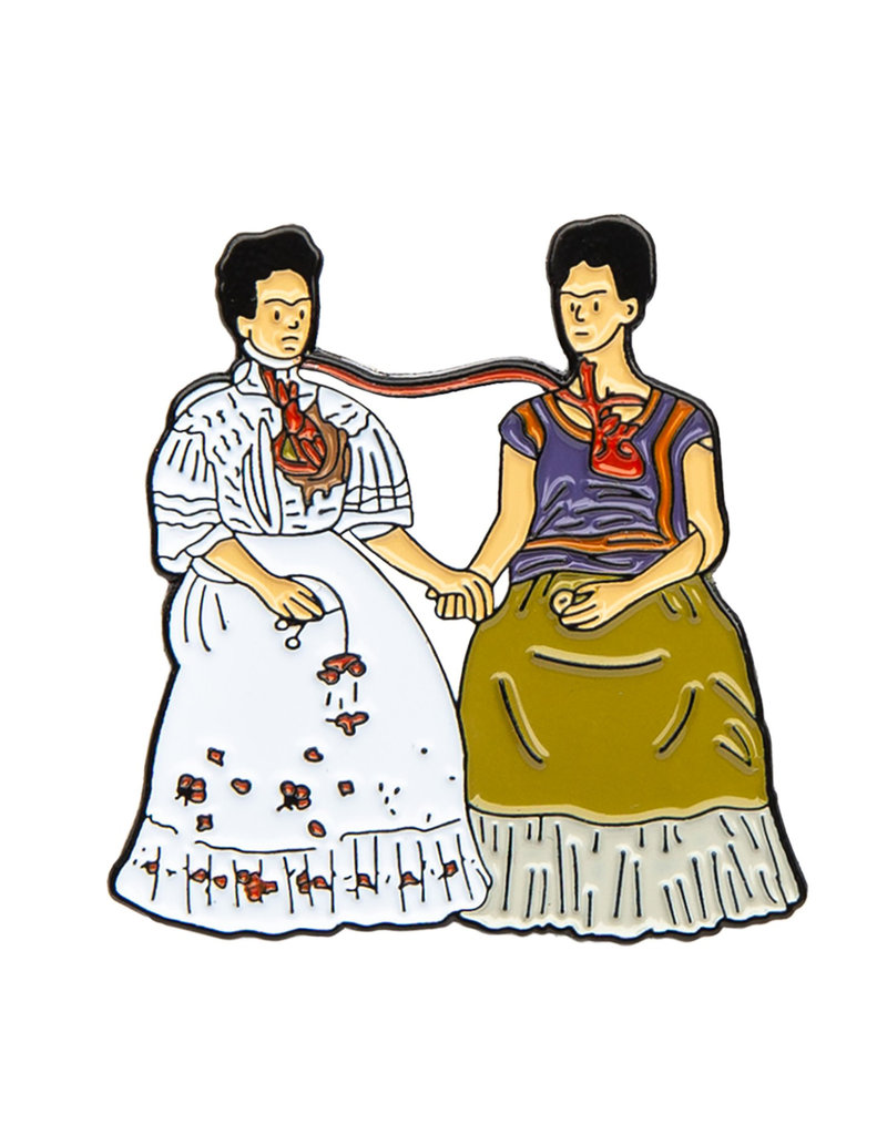 Art History Enamel Pins, Two Fridas - Frida Kahlo