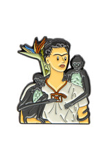 Art History Enamel Pins, Frida with Monkeys - Frida Kahlo