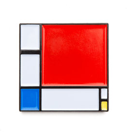 Today is Art Day Art History Enamel Pins, Composition II - Mondrian