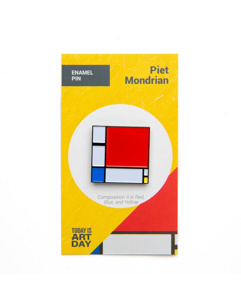 Today is Art Day Art History Enamel Pins, Composition II - Mondrian