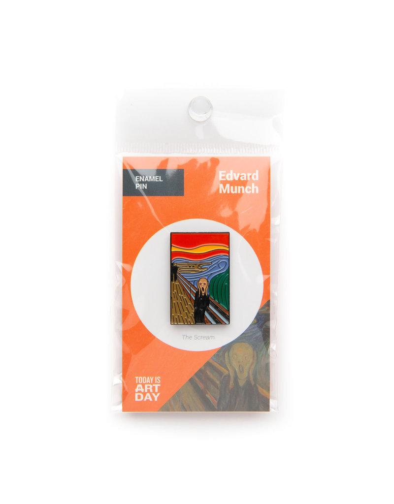 Today is Art Day Art History Enamel Pins, Scream - Munch