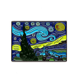 Today is Art Day Art History Enamel Pins, Starry Night - Van Gogh