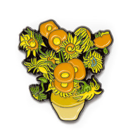 Today is Art Day Art History Enamel Pins, Sunflowers - Van Gogh