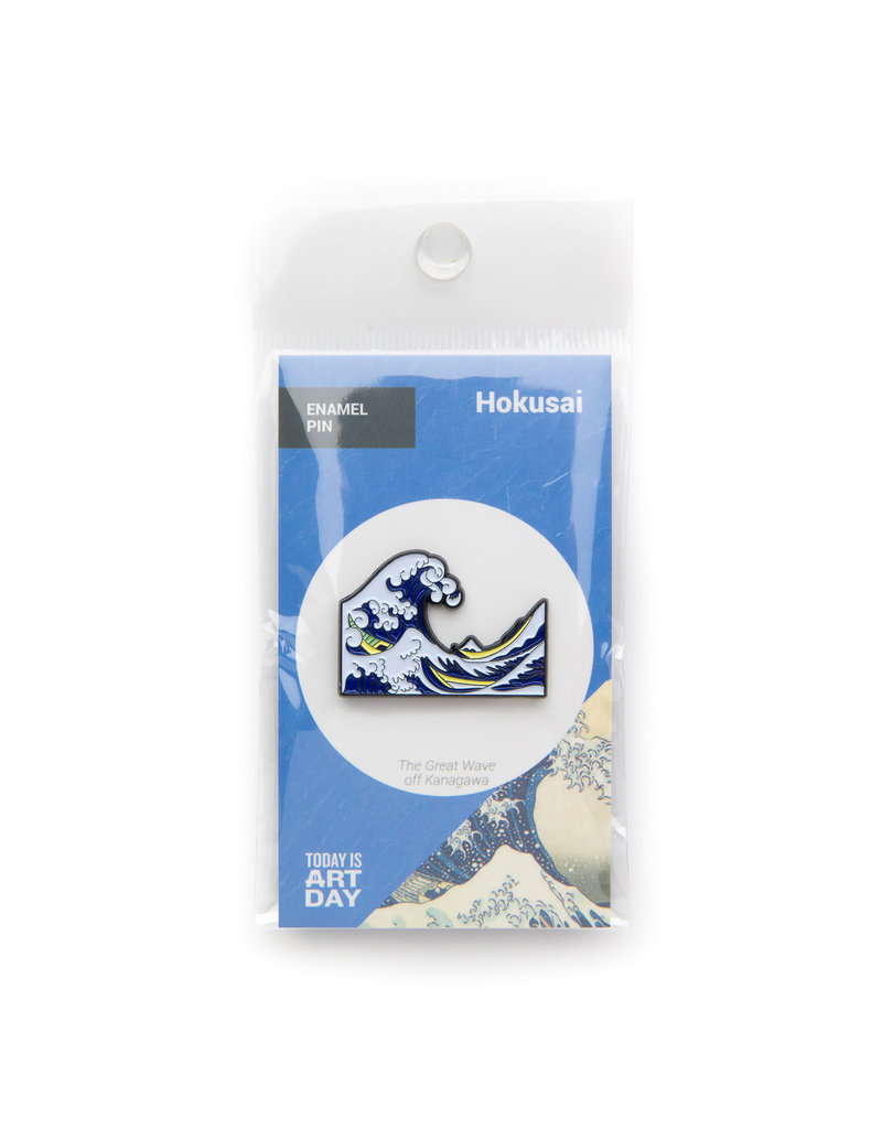 Today is Art Day Art History Enamel Pins, Great Wave - Hokusai