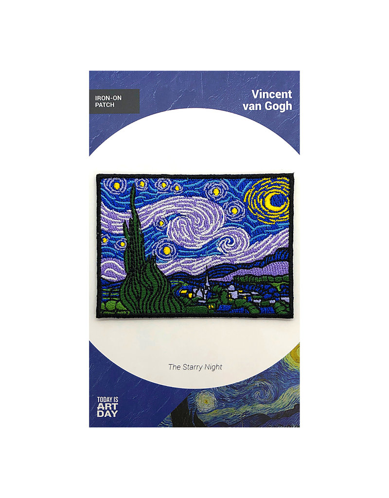 Today is Art Day Art History Iron On Patches, Starry Night - Van Gogh