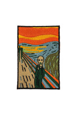 Today is Art Day Art History Iron On Patches, Scream - Munch