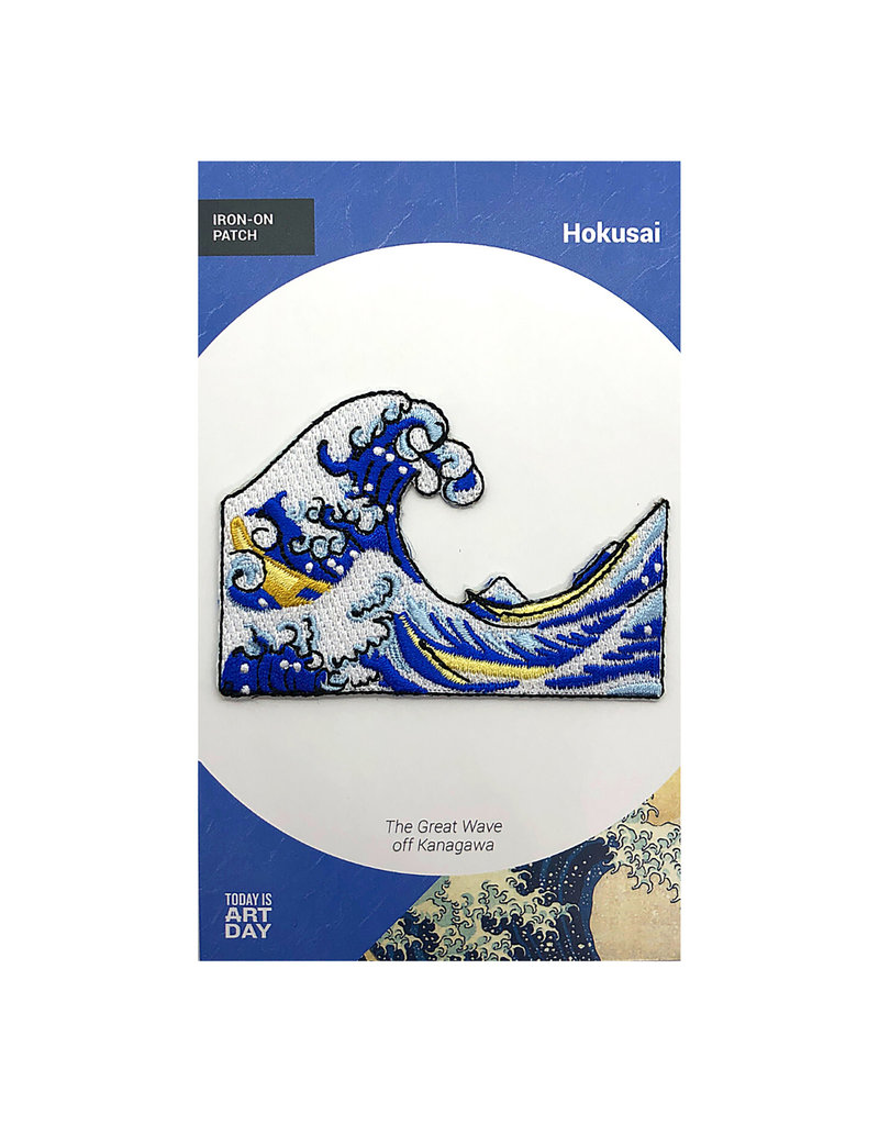 Today is Art Day Art History Iron On Patches, Great Wave - Hokusai