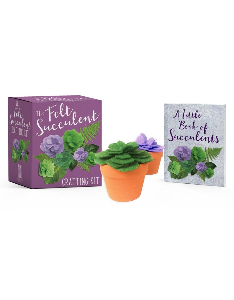Running Press The Felt Succulent Crafting Kit Mini Edition