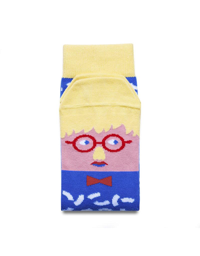Chatty Feet Character Socks, David Sock-Knee