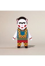 Chatty Feet Character Paper Models, Frida Card-O