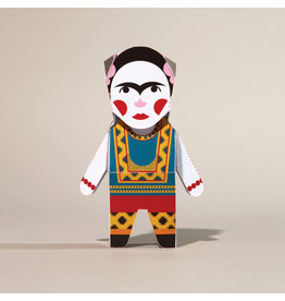 Chatty Feet Character Paper Models, Frida Card-O