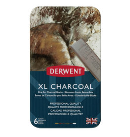 Derwent Xl Charcoal Tin 6-Color Set, Chunky Blocks