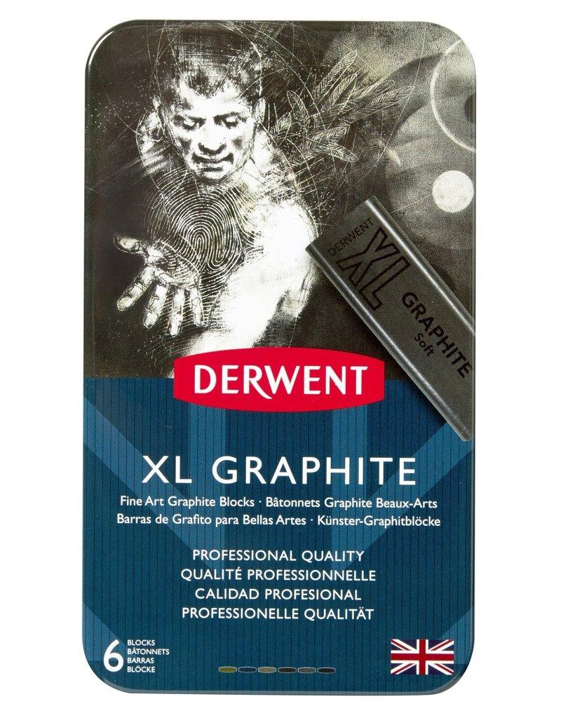 Derwent Xl Graphite Tin 6-Piece Set, Chunky Blocks