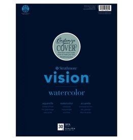 "Strathmore Vision Watercolor Paper Pads, 11"" x 15"" - 30/Sht. Glue Bound"
