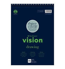 "Strathmore Vision Drawing Paper Pads, 9"" x 12"" - 65 Shts./Pad - Wire Bound"