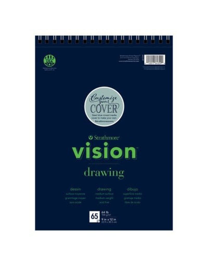 """Strathmore Vision Drawing Paper Pads, 9"""" x 12"""" - 65 Shts./Pad - Wire Bound"""