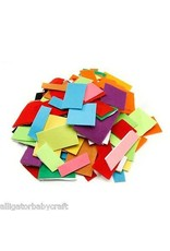 Darice Felties Felt Scrap Pack - Assorted Colors And Sizes - 1/2 Pound