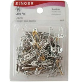 Singer 90 Asst Safety Pins Size 00