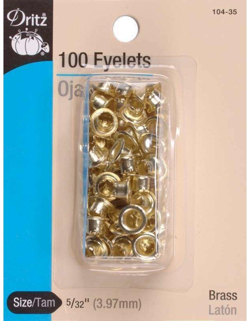 Eyelets Gold 5/32''